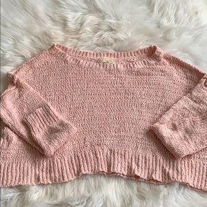 Hollister Off the Shoulder Oversized Crop Sweater